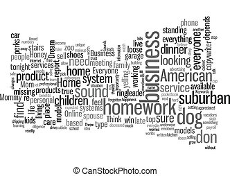 basato, testo, lei, affari, fondo, wordcloud, concetto, casa