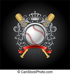 base-ball, blason
