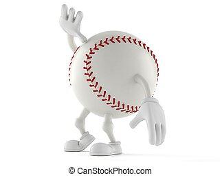 base-ball, caractère, haut, regarder