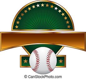 base-ball, conception, gabarit, étoile or