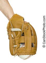 base-ball, dans, gant base-ball