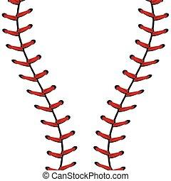 base-ball, dentelle, fond