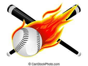 base-ball, flammes
