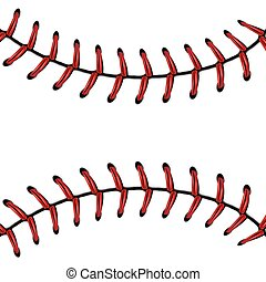 base-ball, fond, dentelle