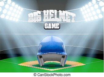 base-ball, fond, stade, nuit