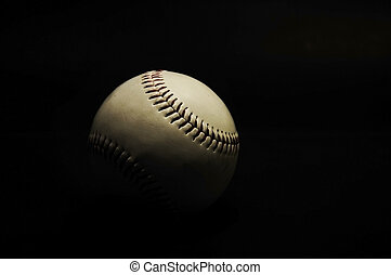 base ball in black color background