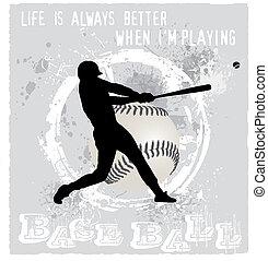 base-ball, jouer