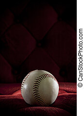 base ball on red background