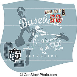 base ball - shirt printing illustration