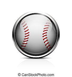 base-ball, vecteur, icône