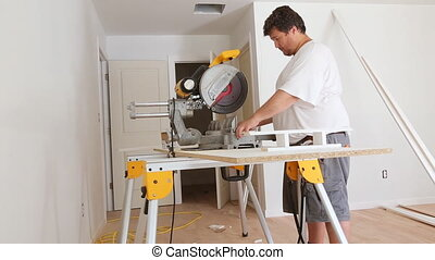 Base Board cutting miter saw , concept building and repair -...