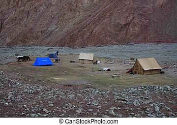Base Camp, Himalayas, India - Base Camp, Himalayas - ...