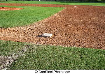 base, champ intérieur, base-ball, côté, premier jour, ...