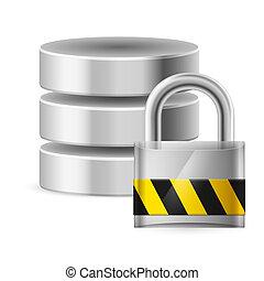 base dados, desligado, ícone