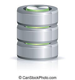 base dados, e, disco duro, ícone