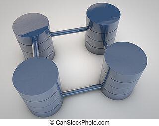 base dados, sobre, simbólico, fundo, branca, estruturas