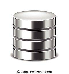 base de datos, aislado, blanco, vector
