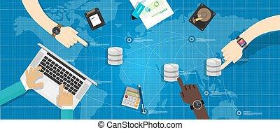 base de datos, almacenamiento, virtualization, dirección