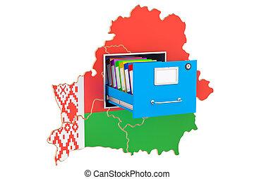 base de datos, concepto, nacional, interpretación, belorussian, 3d