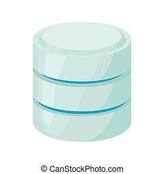 base de datos, de, red, icono, caricatura, estilo