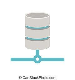 base de datos, relational, icon., base de datos, conexión,...
