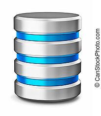 base de datos, símbolo, duro, almacenamiento, unidad, disco,...