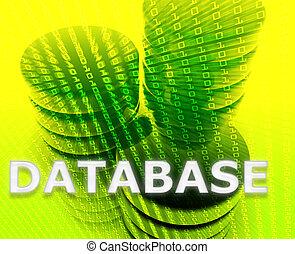 base données, mémorisation des données