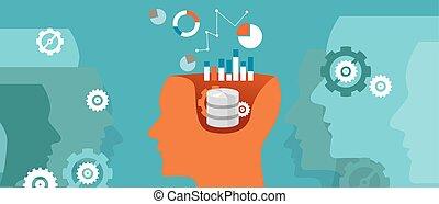 base données, pensée, scientifique, calculer, graphique, science, données