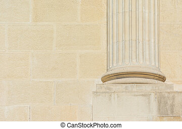 Base Foundation Of Roman Column