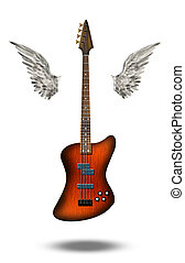 Base Guitar with wings