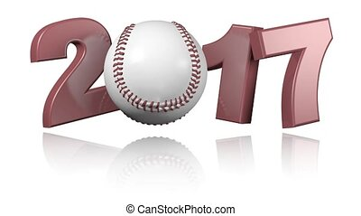 Baseball 2017 with a white background