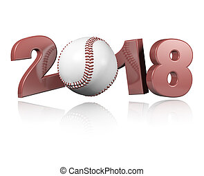 Baseball 2018 Design with a white Background