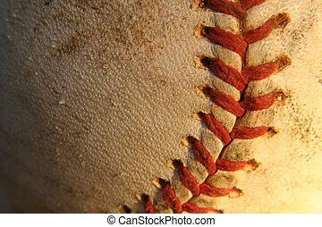 Baseball - A close up of a baseball