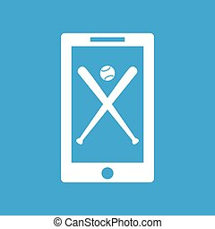 Baseball app icon, simple
