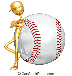 Baseball Attitude - 3D Concept And Presentation Figure