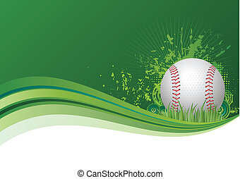 baseball background - baseball design elements,green...