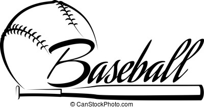 Baseball Ball Banner - Stylized baseball with the word...