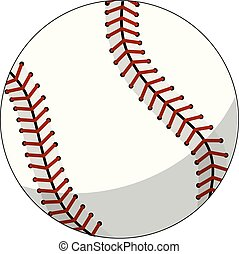 baseball ball character mascot cartoon vector isolated
