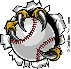 Baseball Ball Eagle Claw Talons Ripping Background