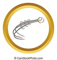 Baseball ball fly icon
