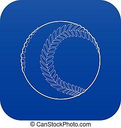Baseball ball icon blue vector