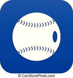 Baseball ball icon digital blue