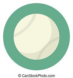 Baseball ball icon isolated illustration vector graphic