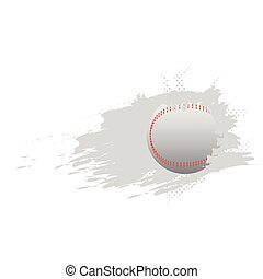 Baseball ball icon with an effect