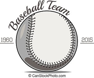 Baseball Ball label