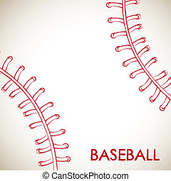 Baseball - Ball of baseball background vector illustration