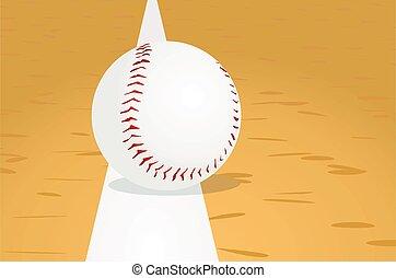 Baseball ball on line. vector illustration