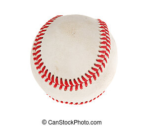 Baseball ball, photo on the white background