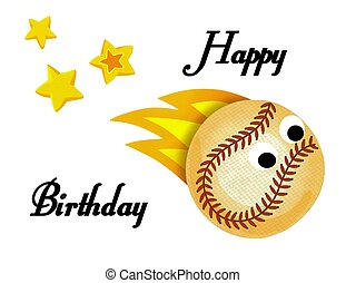 Beautiful baseball happy birthday card