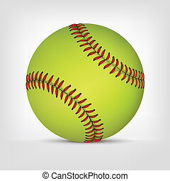 Baseball ball isolated on white background. Vector.